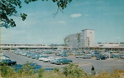 View of Cross County Shopping Center Classic Cars Westchester NY Postcard (Cross County Center)