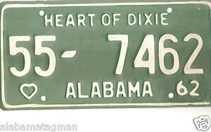 Heart Of Dixie License Plate