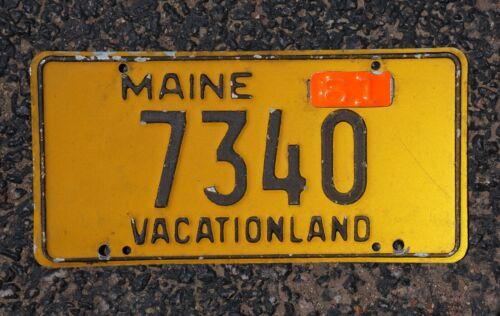 1961 Maine Passenger License Plate Low Digit # 7340