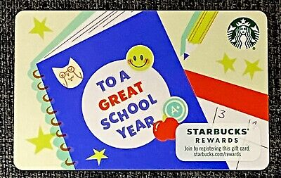 """NEW 2021 Starbucks """"TO A GREAT SCHOOL YEAR"""" Gift Card"""