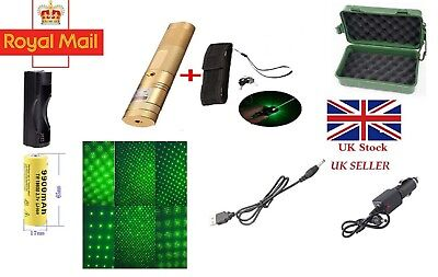 GOLD Colour Green Laser Pointer Light  532nm 1mw + extras UK TRACKED 48 TRACKED