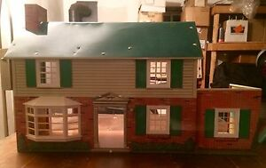 Marx toys 1950's tin litho doll house $80