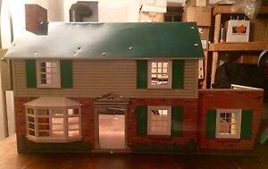 Marx toys 1950's tin litho doll house $130
