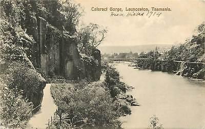 Australia, Tasmania, Cataract Gorge, Launceston 1914 Postcard