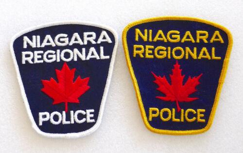 2 PIECE SET - Obsolete Police Patch - NIAGARA - Ontario Canada - PERFECT LN