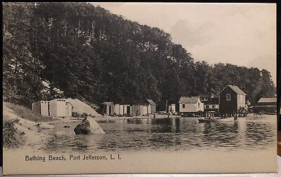 Long Island 15 (PORT JEFFERSON, Long Island, NY, Post Card 1905-15 Brookhaven, Suffolk Co. BEACH)