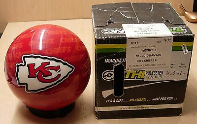 8 9 Oz, Bowling Ball Otb Viz-a-ball Rare 2010 Nfl Kansas City Chiefs