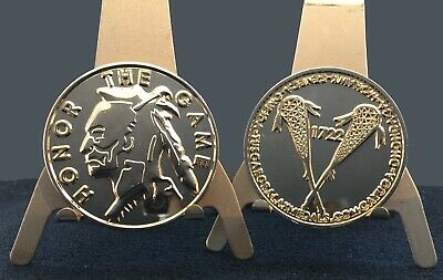 Coin Toss Game (LACROSSE REFEREE OFFICIAL GAME FLIP TOSS COIN MEDAL NATIVE AMERICAN)