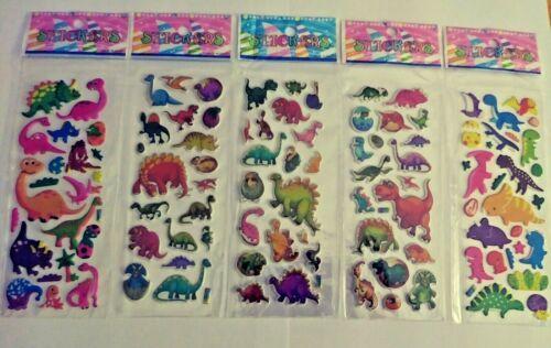 1 Sheet Cartoon Dinosaurs 3D Stickers Children Crafts Rewards Stocking Stuffers