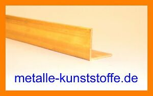 Messing Winkel Profil 25x15x2 mm / Länge 1000mm / CuZn43Pb2Al (MS56)
