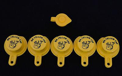 5x Blitz Yellow Spout Caps For Gas Can Spouts 900302 900092 900094 - Free Vent