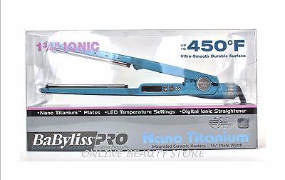 Babyliss Pro Nano Titanium Blue Flat Iron 1.75 Inch