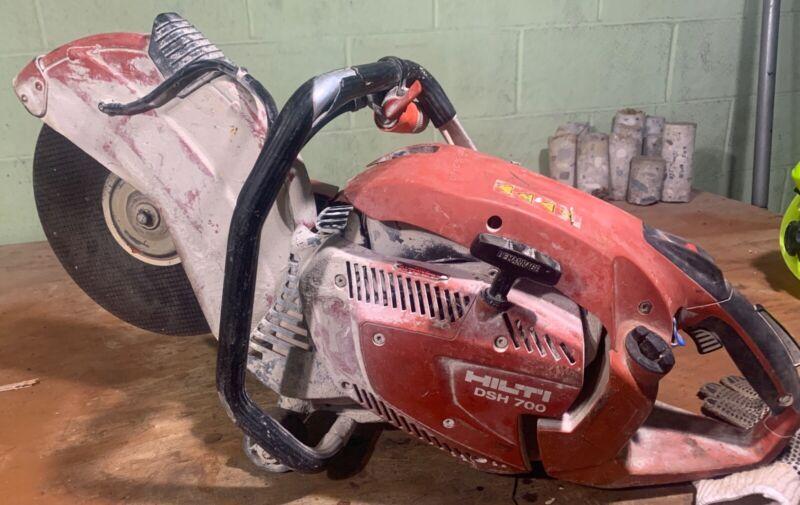 "Hilti 14"" Concrete Saw DSH 700 Gas Powered Power Cutter Cut Off"