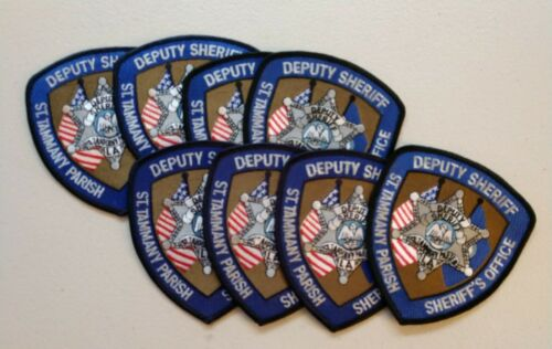 Trader lot of 8 St, Tammany Parish, Louisiana sheriff patches - postpaid