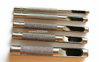5 Locheisen Locher Lochmeißel Lochzange 3-8mm