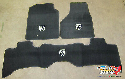 2009-2012 Dodge Ram 1500 Front/Rear Quad Cab Carpeted Black Floor Mat Mopar OEM