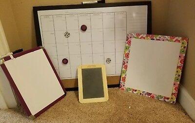 Teachers 4 Piece Dry Erase Chalk Board Set