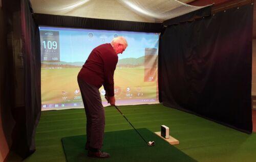 Black Golf Simulator Side Curtain, PVC-Backed Polyester (Custom Sizes Available)