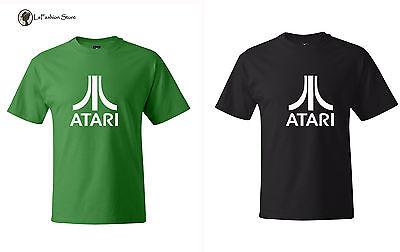 Atari Classic Retro Video Game Logo Adult T Shirt SM-5XL Quality Tees