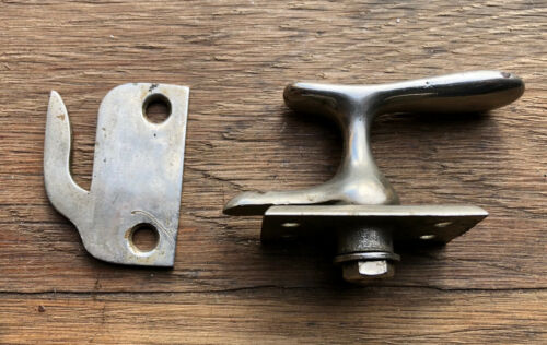 Vintage NOS Ice Box Refrigerator Latch + Keeper Silver Tone