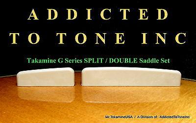 Takamine G Series SPLIT / DOUBLE Saddle Set / Genuine OEM Part!