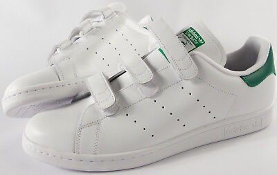 ADIDAS ORIGINALS Stan Smith 3 STRAP shoes- NEW- CF classic White tennis (Adidas Originals Shoes Mens Stan Smith Classic Sneakers)