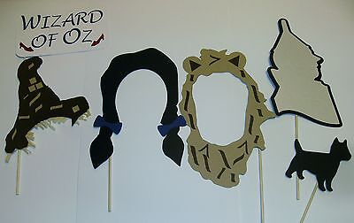 DIY- 18pc Wizard of Oz inspired photo prop Witch Dorothy Tin Man Lion (2075D)
