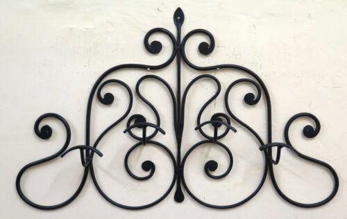 Coat Hangers Vintage Wrought Iron Hanger Wall 4 Hooks Old Ch