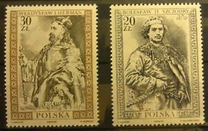 POLAND-STAMPS MNH Fi3079-80 SC2932-33 Mi3227-28-Fellowship Polish kings,1989 - Reda, Polska - POLAND-STAMPS MNH Fi3079-80 SC2932-33 Mi3227-28-Fellowship Polish kings,1989 - Reda, Polska
