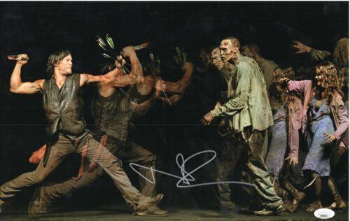 "Norman Reedus Autograph Signed 11x17 Photo - Walking Dead ""Daryl"" (JSA COA)"