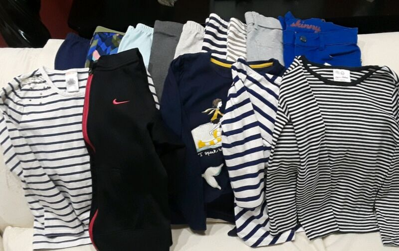 Lot of 14 Girls Size 7 & 7/8 Gymboree Leggings, Pants, Tops, Nike Jacket EUC