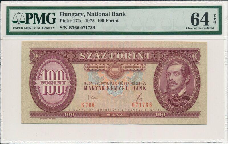 National Bank Hungary  100 Forint 1975  PMG  64EPQ