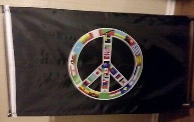 WORLD PEACE FLAG 3' X 5' - World Flag