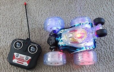 Huanqi 632 Blue Remote Control Rolling Music Stunt Car