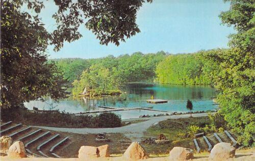 CT Plymouth CAMP MATTATUCK Lake Kenosha Boy Scouts of America postcard BS5
