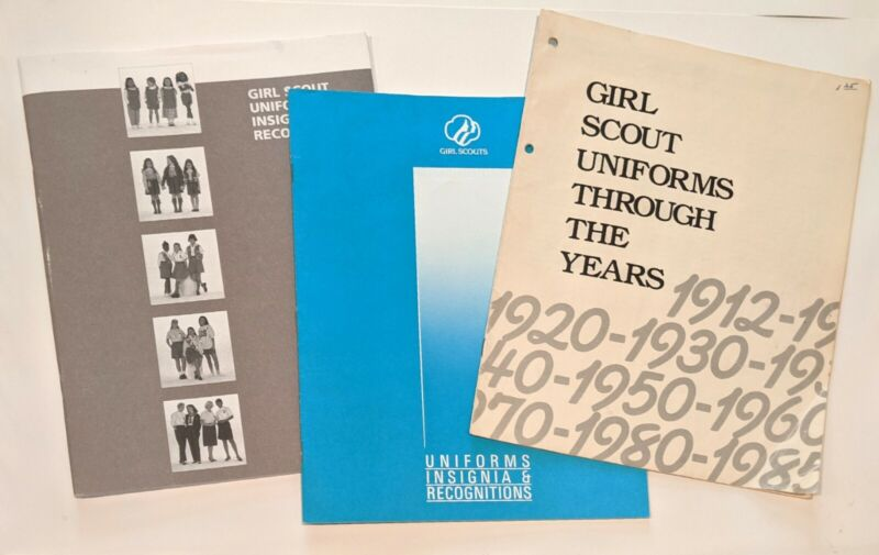 Lot of 3: 80s/90s Girl Scout Catalog Uniforms Insignia Recognitions Guides