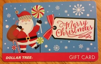 Rare DOLLAR TREE Collectible Gift Card Merry Christmas Santa Claus NO CASH VALUE Dollar Tree Gift Cards