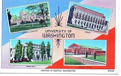Vintage Image Postcard University of Washington Seattle WA White Border Vintage