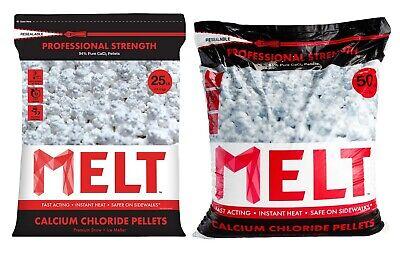 Snow Ice Melt Rock Salt 10 25 50 Lb 94% Calcium Chloride Pellets Pro Strength Rock Salt Ice Melt