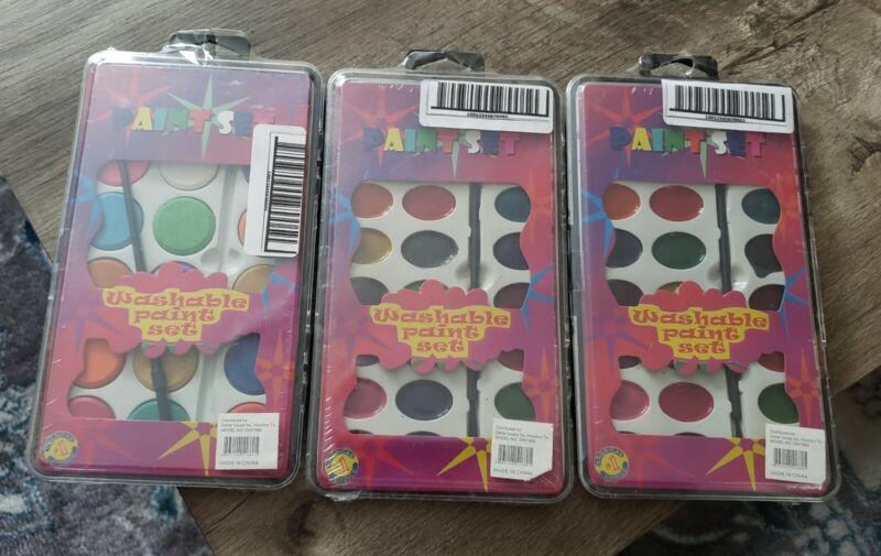 Children's Washable 18 Colors Paint Sets & Brush