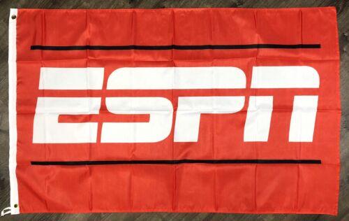 ESPN Sports Flag 3x5 ft Red Banner Man-Cave NFL NBA MLB NHL