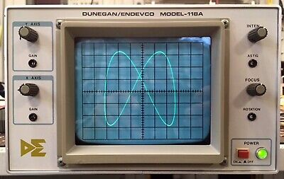 Duneganendevco 118a Restored To Leader Lbo-51ma Oscilloscope Xy Display Crt