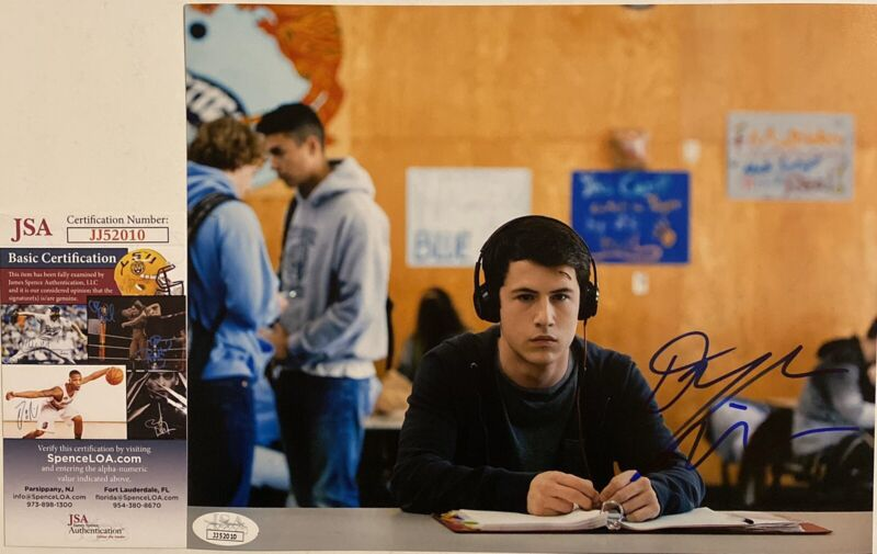 Dylan Minnette Signed Autographed 8x10 Photo 13 Reasons Why Actor JSA COA