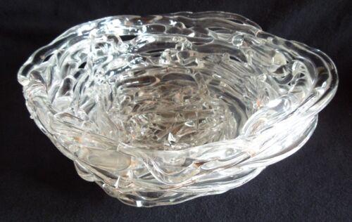 1991 Michael Cohn-Molly Stone BIRDS NEST *Art Glass* 7 x 3 Inch Bowl *FREE SHIP