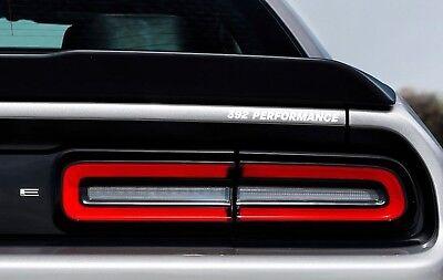 392 Performance Rear Badge Decal Dodge Challenger Charger HEMI SRT Hellcat White