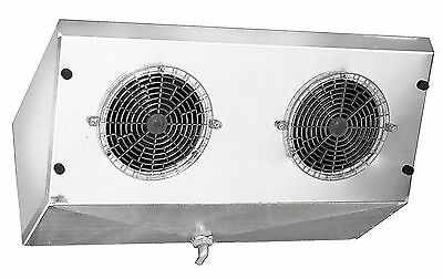 High V Profile Reach-in Cooler Evaporator Coil Blower 3000 Btu 480 Cfm 110v