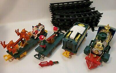 1992 TOY STATE SANTA'S MAGIC EXPRESS Train Set Tracks Cars Lot Parts Repair #2*