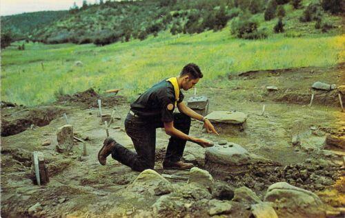 1960 NM Cimarron PHILMONT Boy Scout Ranch Petrographs Archaeology postcard BS6