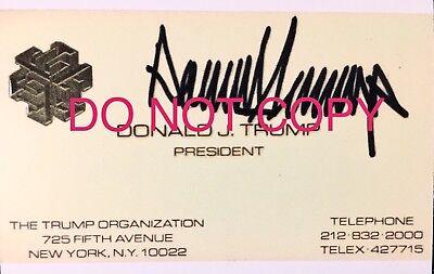 DONALD TRUMP Visitenkarte mit Repro-Autogramm