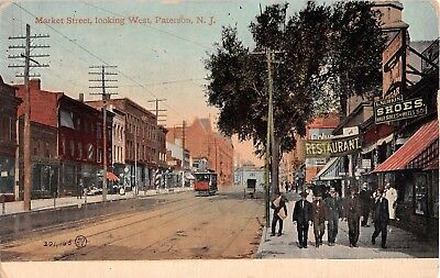 1912 Stores Trolley Market St. looking West Paterson NJ post card](West Paterson Nj)